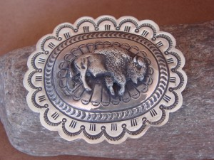 Navajo Indian Jewelry Sterling Silver Buffalo Belt Buckle Carson Blackgoat