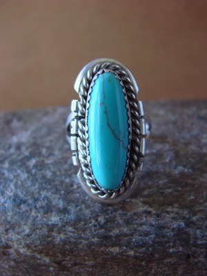 Native American Jewelry Sterling Silver Turquoise Ring by Begay! Size 5 1/2