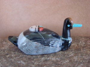 Zuni Indian Hand Carved Duck Fetish by Darrin Boone