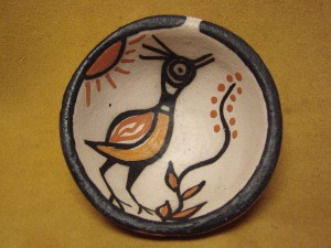 Small Santo Domingo Kewa Handmade & Painted Bird Bowl By Rose Pacheco!