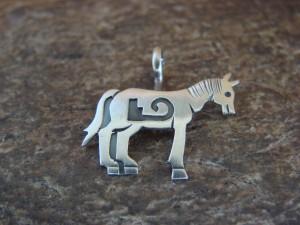 Navajo Indian Sterling Silver Horse Pendant by Robert Gene