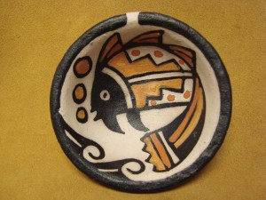 Small Santo Domingo Kewa Handmade & Painted Fish Bowl By Rose Pacheco!