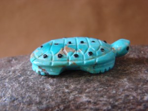 Zuni Indian Hand Carved Turquoise Turtle by Danette Laate!