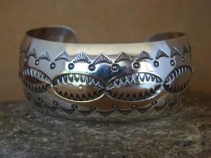 Native American Jewelry Sterling Silver Bracelet by Carson Blackgoat