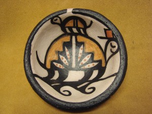 Small Santo Domingo Kewa Handmade & Painted Turtle Bowl By Billy Veale!