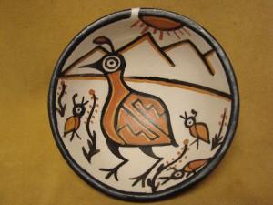 Santo Domingo Kewa Handmade & Painted Quail Bowl By Rose Pacheco!