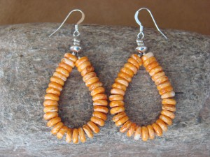 Navajo Indian Jewelry Spiny Oyster Shell Earrings! Native American