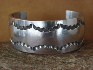 Navajo Indian Hand Stamped Aluminum Bracelet by Douglas Etsitty!