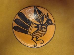 Santo Domingo Indian Pottery Handmade Bird Plate by Lovajo! Pueblo Hand Coiled