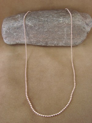 "Southwestern Jewelry Copper Ball Chain Necklace 23"" Long x 1/16"""