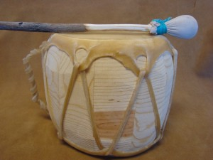 Handmade Native American Drum - Rawhide Skinned - DRM044