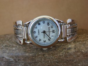 Native American Indian Jewelry Sterling Silver Watch - Bruce Morgan