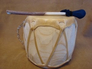 Handmade Native American Drum - Rawhide Skinned - DRM045