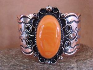 Native American Jewelry Copper Spiny Oyster Bracelet by Jackie Cleveland!
