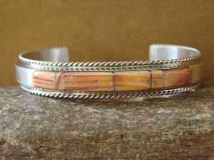 Native American Handmade Jewelry Sterling Silver Spiny Oyster Bracelet!