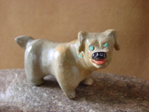 Zuni Indian Hand Carved Dog Fetish by Freddie Leekya