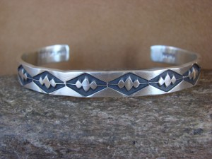 Native American Jewelry Hand Stamped Sterling Silver Bracelet by Nora Bill!