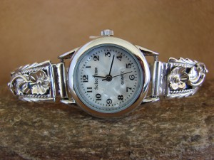 Native American Indian Jewelry Sterling Silver Lady's Watch - WA043