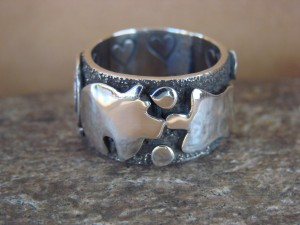 Native American Sterling Silver Men's Ring by Alex Sanchez Size 8 1/2