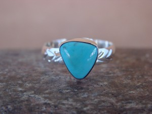 Native American Jewelry Sterling Silver Turquoise Ring! Size 7 1/2  Antonio Etsitty