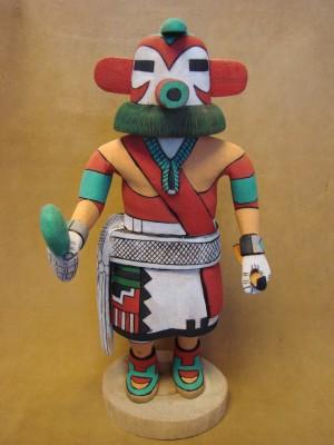 "Hopi Indian Hand Carved ""Turkey"" Kachina by Elmer Adams! Native American"