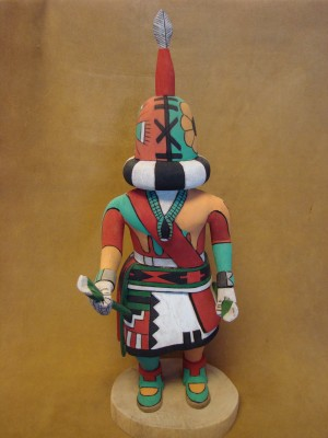 """Hopi Indian Hand Carved """"Rattle"""" Kachina by Elmer Adams! Native American"""