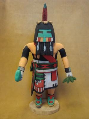 "Hopi Indian Hand Carved ""Longhair"" Kachina by Elmer Adams! Native American"