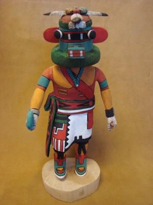 "Hopi Indian Hand Carved ""Hochani"" Kachina by Elmer Adams! Native American"