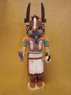 "Hopi Indian Hand Carved ""Badger"" Kachina by Elmer Adams! Native American"