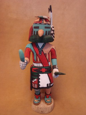 "Hopi Indian Hand Carved ""Sio Taspa"" Kachina by Elmer Adams! Native American"