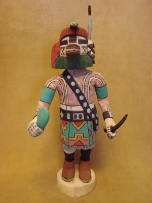 "Hopi Indian Hand Carved ""Kove-vi"" Kachina by Elmer Adams! Native American"