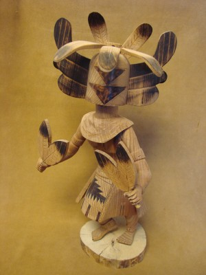 Navajo Indian Hand Carved Crow Mother Kachina Dancer by Platero!
