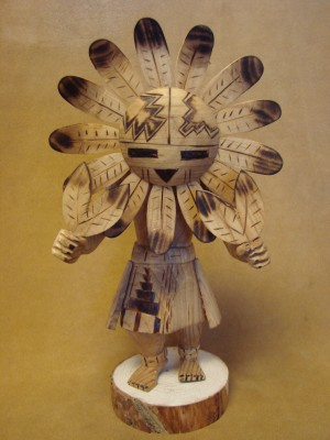 Navajo Indian Hand Carved Sunface Kachina Dancer by Platero!