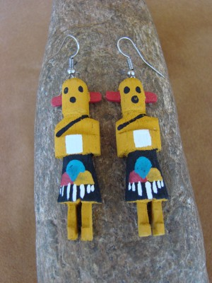 Navajo Indian Chili Pepper Kachina Earrings! by Loretta Multine! 2