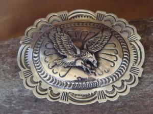 Navajo Indian Jewelry Sterling Silver Eagle Belt Buckle Carson Blackgoat