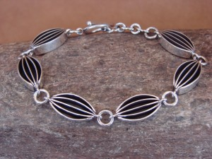 Native American Jewelry Sterling Silver Link Bracelet! James Bahe