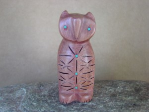 Zuni Indian Carved Cedar Owl Fetish by Brandon Phillips! Native American