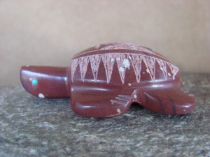 Zuni Indian Hand Carved Pipestone Turtle Fetish by Brandon Phillips!