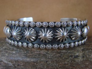 Native American Jewelry Hand Stamped Sterling Silver Bracelet Marc Antia