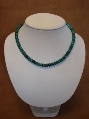 Native American Indian Hand Strung Turquoise Bead Necklace