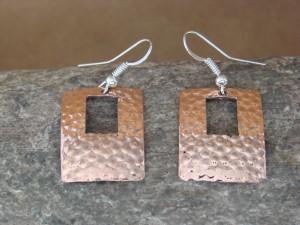Navajo Indian Hand Stamped Copper Earrings by Douglas Etsitty!