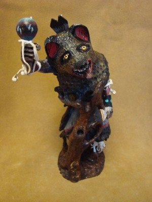 Hopi Indian Hand Carved & Painted Bear Kachina by Eugene Gaddy