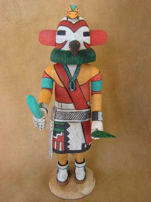 "Hopi Indian Hand Carved ""Cockatiel"" Kachina by Elmer Adams! Native American"