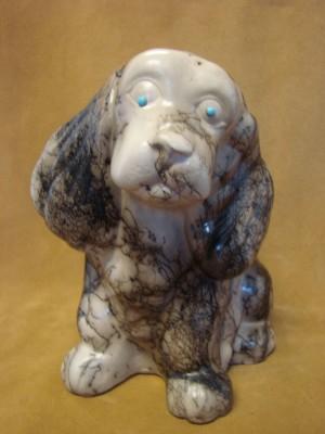 Native American Pottery Horse Hair Puppy Dog Money Bank! Navajo Pot