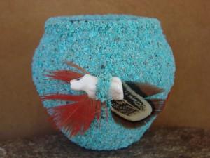 Native American Indian Zuni Pottery Fetish Pot by Marvelita Phillips