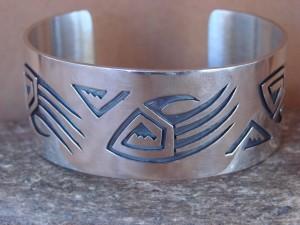 Native American Jewelry Sterling Silver Bear Paw Bracelet by Sharon Cisco