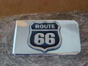 Southwestern Route 66 Money Clip! Nickel Silver