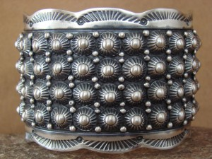 Native American Indian Jewelry Sterling Silver Bracelet by Lester James