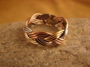 Navajo Indian Hand Made Copper Band Ring by Verna Tahe!, Size 10.5