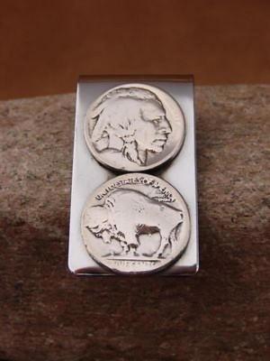 Southwestern Buffalo Nickel Silver Coin Money Clip! Handmade!